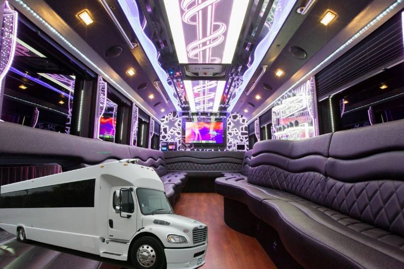 30 Passenger Party Bus With a Bathroom